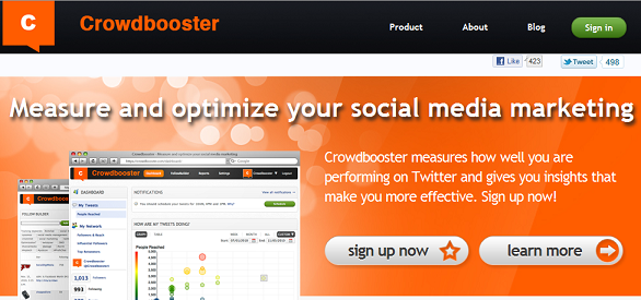 Crowdbooster – Measure and optimize your social media marketing
