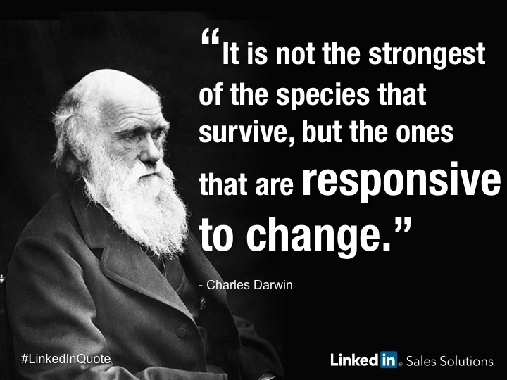 Charles Darwin Quote Social Selling