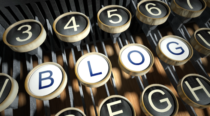 sales professional Blogging -Typewriter