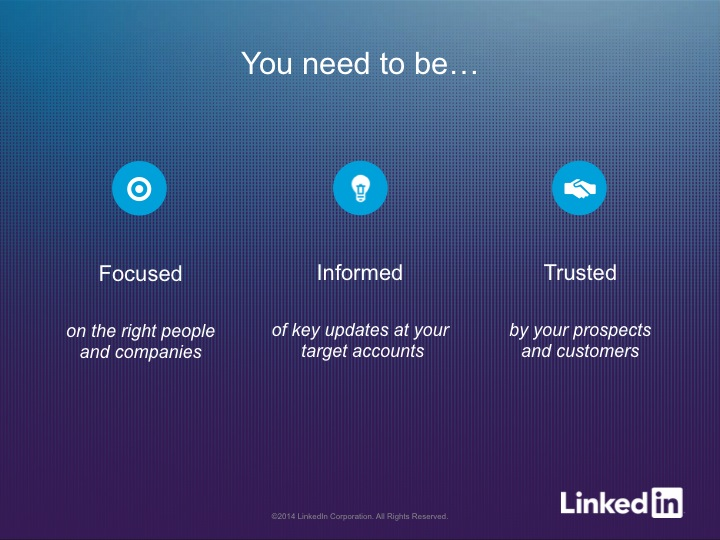 linkedin sales navigator focus-informed-trusted